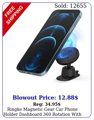 ringke magnetic gear car phone holder dashboard rotation with mounting plat