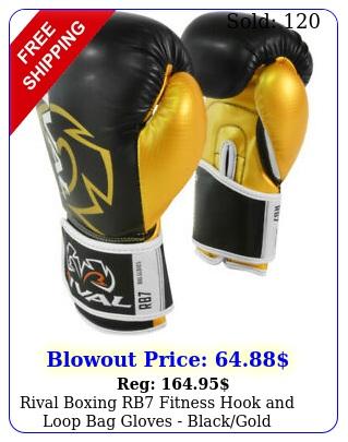 rival boxing rb fitness hook loop bag gloves blackgol