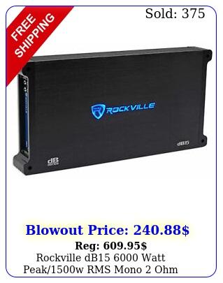 rockville db watt peakw rms mono ohm amplifier car audio am