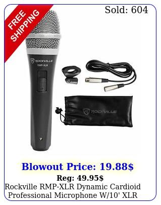 rockville rmpxlr dynamic cardioid professional microphone w' xlr cable cli