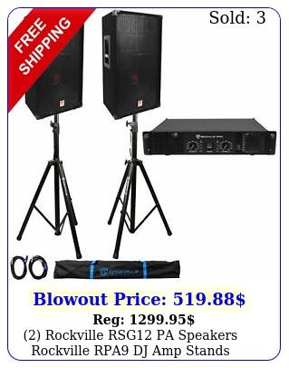 rockville rsg pa speakers  rockville rpa dj amp  stands  cables  cas