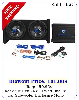 rockville rva watt dual car subwoofer enclosure mono amplifier amp ki