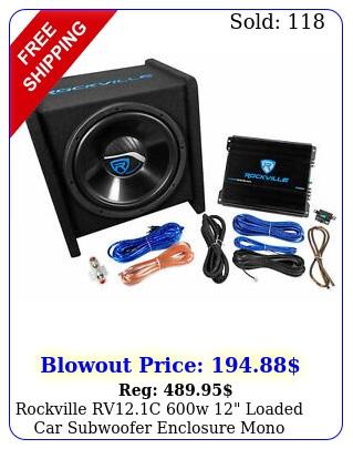 rockville rvc w loaded car subwoofer enclosure mono amplifier amp ki