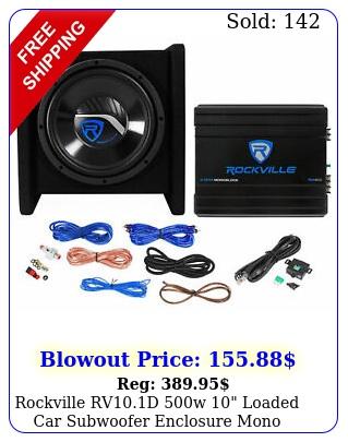 rockville rvd w loaded car subwoofer enclosure mono amplifier amp ki