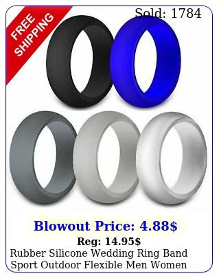 rubber silicone wedding ring band sport outdoor flexible men women gift