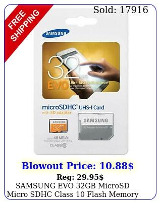 samsung evo gb microsd micro sdhc class flash memory card w sd adapter