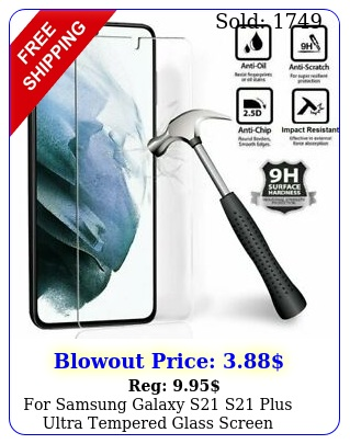 samsung galaxy s s plus ultra tempered glass screen protecto
