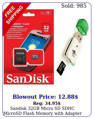 sandisk gb micro sd sdhc microsd flash memory with adapter  usb card reade