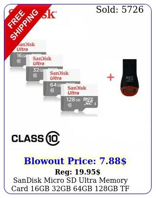 sandisk micro sd ultra memory card gb gb gb gb tf class smartphone
