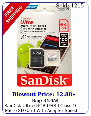 sandisk ultra gb uhsi class micro sd card with adapter speed mbs lo