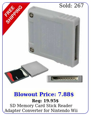 sd memory card stick reader adapter converter nintendo wii key ngc gamecub