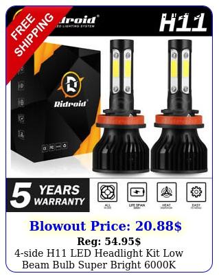 side h led headlight kit low beam bulb super bright k days free retur