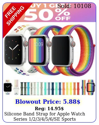 silicone band strap apple watch series se sports m