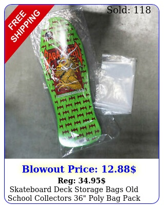 skateboard deck storage bags old school collectors poly bag pack lot o