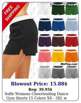 soffe womens cheerleading dance gym shorts colors xs xl w free shippin