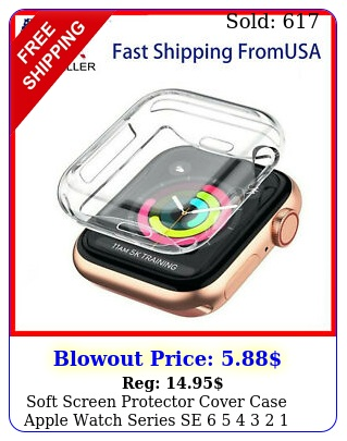 soft screen protector cover case apple watch series se