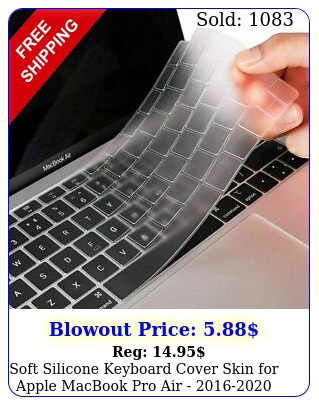 soft silicone keyboard cover skin apple macbook pro air  model