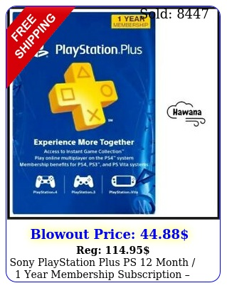 sony playstation plus ps month  year membership subscription us