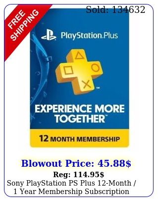 sony playstation ps plus month  year membership subscriptio
