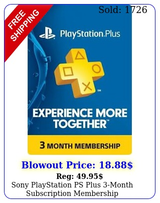sony playstation ps plus month subscription membershi