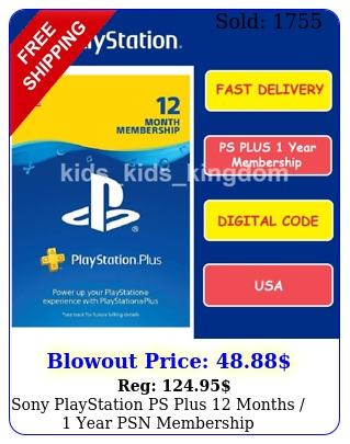sony playstation ps plus months  year psn membership subscriptio