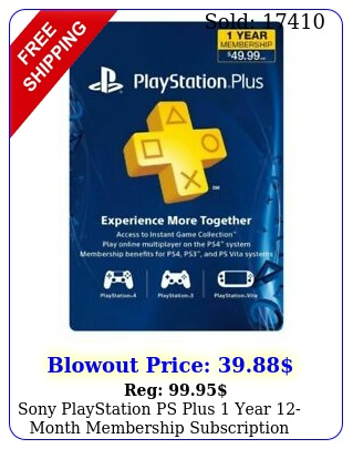 sony playstation ps plus year month membership subscription card usacanad