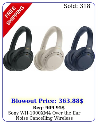 sony whxm over the ear noise cancelling wireless headphone