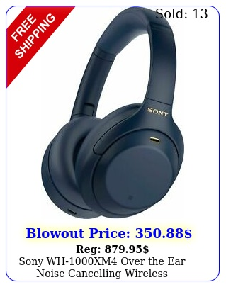 sony whxm over the ear noise cancelling wireless headphones blue
