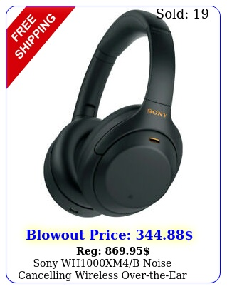 sony whxmb noise cancelling wireless overtheear headphones ope