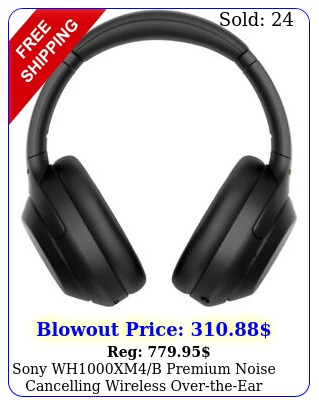 sony whxmb premium noise cancelling wireless overtheear headphones op