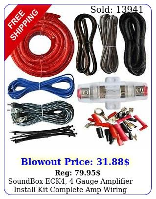 soundbox eck gauge amplifier install kit complete amp wiring cables