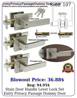 stain door handle lever lock set entry privacy passage dummy door lockset kno