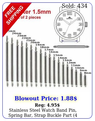 stainless steel watch band pin spring bar strap buckle part piece