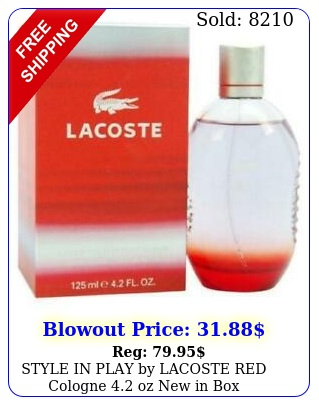 style in play by lacoste red cologne oz i