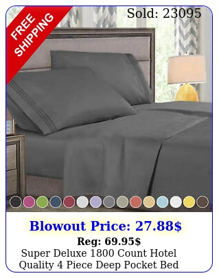 super deluxe count hotel quality piece deep pocket bed sheet se
