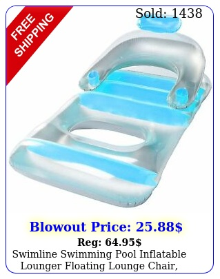 swimline swimming pool inflatable lounger floating lounge chair colors var