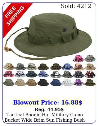 tactical boonie hat military camo bucket wide brim sun fishing bush booney ca