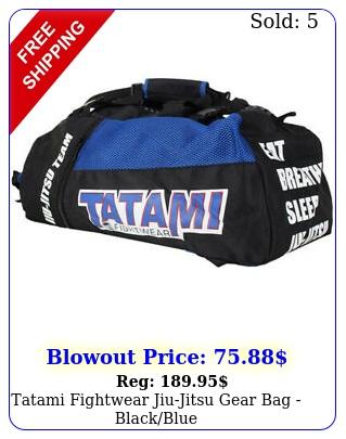 tatami fightwear jiujitsu gear bag blackblu