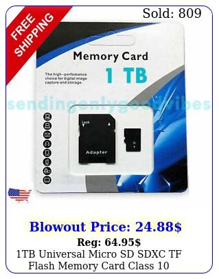 tb universal micro sd sdxc tf flash memory card clas