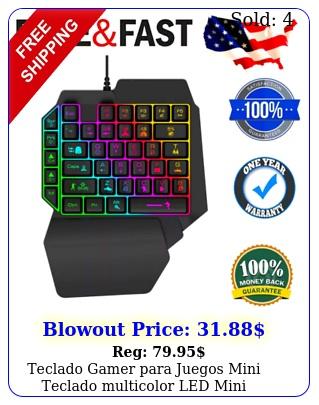 teclado gamer para juegos mini teclado multicolor led mini keyboard gamin