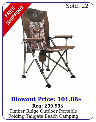 timber ridge outdoor portable folding tailgate beach camping lounge chair cam