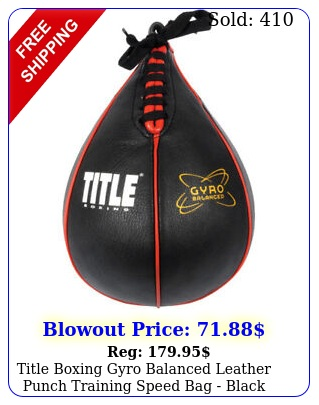 title boxing gyro balanced leather punch training speed bag blac