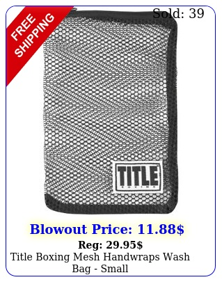 title boxing mesh handwraps wash bag smal