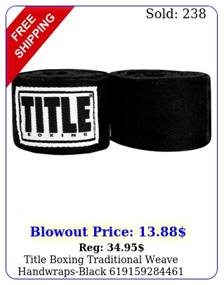title boxing traditional weave handwrapsblac