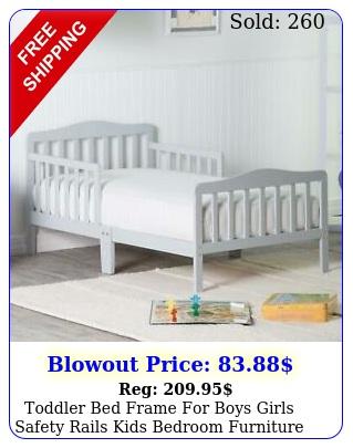 toddler bed frame boys girls safety rails kids bedroom furniture woo
