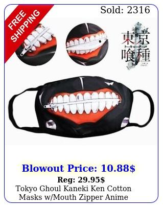 tokyo ghoul kaneki ken cotton masks wmouth zipper anime smoker face cove