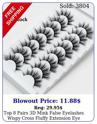 top pairs d mink false eyelashes wispy cross fluffy extension eye lashes u