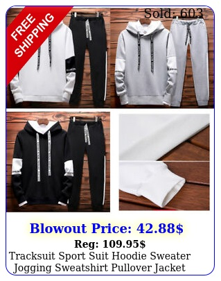 tracksuit sport suit hoodie sweater jogging sweatshirt pullover jacket wpant u