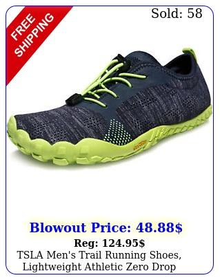 tsla men's trail running shoes lightweight athletic zero drop barefoot shoe