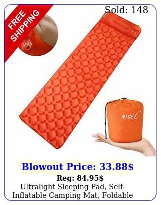 ultralight sleeping pad selfinflatable camping mat foldable camping foam pa